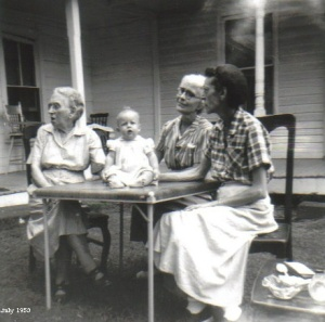 Grandmas Carrell Douglass and Waterman and Susie